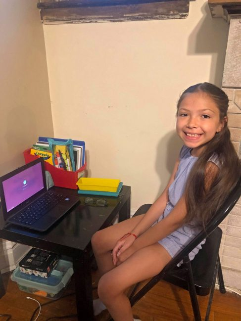 District 91 students, including 5th grader Lily, have started the school year remotely. | Photo provided