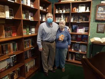 Augie Aleksy (left) and his wife Tracy Aleksy are celebrating their store's 30th anniversary in November. | Maria Maxham/Editor