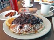 Fruit topped pancakes from Tastee Corner Cafe.
