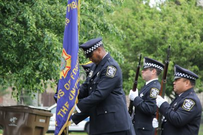 Forest Park Police Color Guard Courtesy: Rachell Entler, Park District of Forest Park.