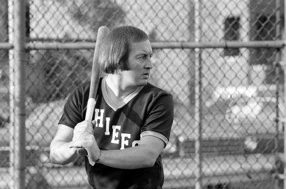 CLINCHING IT: Bob Campbell at bat in 1974.