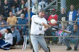Windy City's Rich Kaczmarski hits a double late in the title game. (David Pierini/staff photographer)