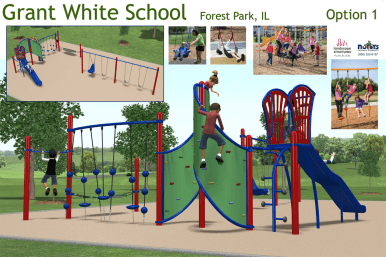 Proposed playground at Grant-White School. Courtesy D91