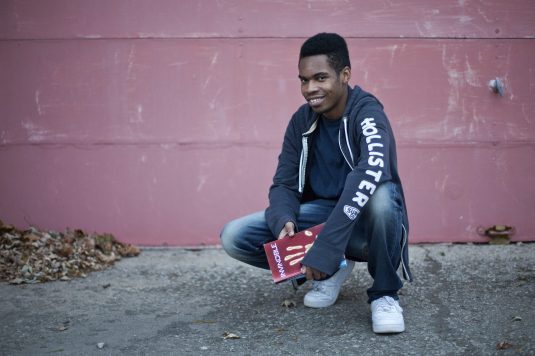 Forest Parker Dewayne Haslet has published two books and is writing a third to complete a triology. He is 17 years old. (DAVID PIERINI/Staff Photographer)