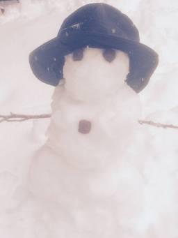 Jacari Cole's dapper snowman.