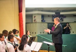 Weinstein's final concerts will take place on Memorial Day weekend and at the Middle School graduation in June. (Photo by William Camargo)