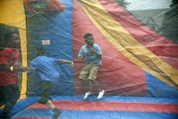 Kids enjoy the inflatables. | William Camargo/Staff Photographer