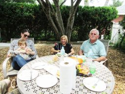 Allison and Scarlett with grandparents Joan Panzita and John Strickland. | JACKIE SCHULZ/Contributor