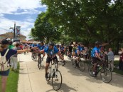 The Wounded Warriors Project, rode through towns of Forest Park and River Forest. | Bob Uphues/Staff