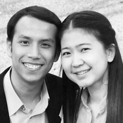 Ajahn Tour, Ph.D. student, and Air his wife. | Courtesy St. Paul Thai Church