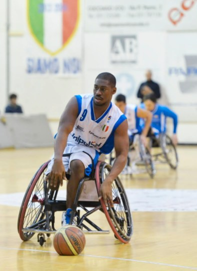 Brian Bell, a star in the world of wheelchair basketball, is married to a Forest Park native.   Photo by LucaRenoldiPhoto