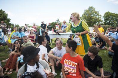 Pickles asks trivia clown questions. | William Camargo/Staff Photographer