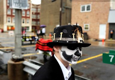 Edina Hauger during the annual Casket Race. | William Camargo/Staff Photographer