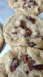 The Bacon Lady brought homemade Bacon Chocolate Chip Cookies to share. - Courtesy of Alicia Plomin