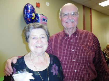 May Bill with her neighbor Mel Block. | JACKIE SCHULZ/Contributor