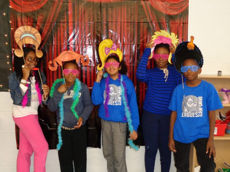 Students in the photo booth.