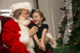 Emily Lyons asks Santa for a Paw Patrol toy and her two front teeth.   Rick Majewski/Contributor