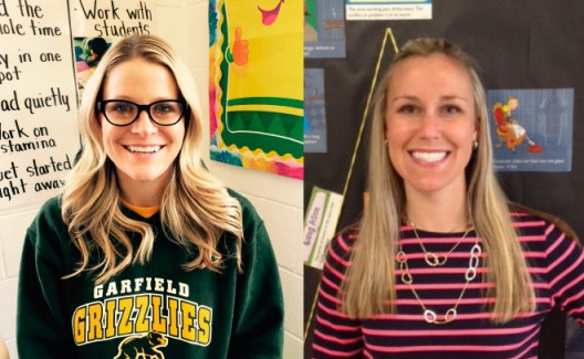 Megan Ford (left) and Ashley Kern (right) have a lot of good things to say about teaching in District 91. | Courtesy Tom Holmes