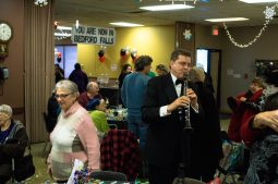 Ken Wojcik and his band kept the volume just right for conversation at the Mohr Community Center New Year's Eve party last Thursday. | Photo by Jason Schumer