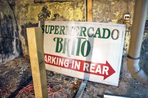 Old signs among other artifacts that can be found in the basement of McGaffer's Saloon in Forest Park. | William Camargo/Staff Photographer