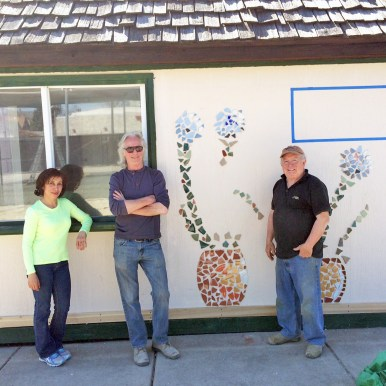 Ana Solares, Richard Biggins, and Dick Schmidt at Empowering Gardens. | Photo provided