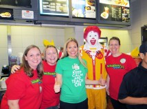 Garfield staff with Ronald McDonald.   Photos submitted