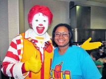 Principal Chyla Weaver of Grant-White School with Ronald.