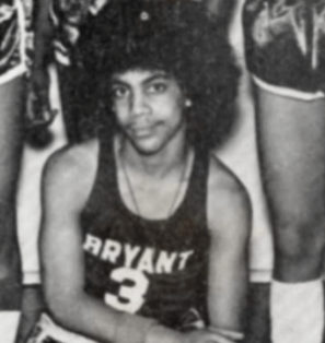 Prince while a student at Minneapolis Central High School in the 1970s. During his playing days at the school, the pop legend was coached by Proviso East alum Al Nuness.