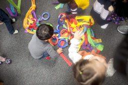 Kids found plenty to play with between dances.   William Camargo/Staff Photographer