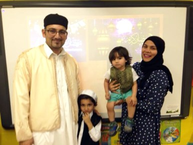 Imad Tarhoni, his wife Sarah Ganbi, and their two children, Bayan and Dary. | Courtesy Jane Catezone