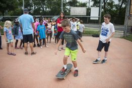Will Lyons shows off his moves in front of his friends. | William Camargo/Staff Photographer