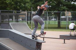 Pete Tinsley performs a ramp trick during Safe Skate. | William Camargo/Staff Photographer