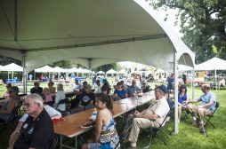 Those in attendance at The Grove listened to speeches by veterans for veterans at Vet Fest last Saturday. | William Camargo/Staff Photographer