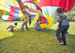 Kids frolic during the Blasting into Scouts event in Miller Meadows-North last Saturday. The event was held to introduce kids to scouting. Children from Oak Park, Brookfield, Maywood, Berwyn and Forest Park attended.   William Camargo/Staff Photographer