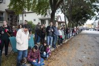 Hundreds of people lined Beloit Avenue to see the 2016 Casket Race in Forest Park on Saturday, Oct. 22. | William Camargo/Staff Photographer