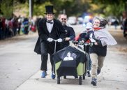 The Historical Society of Forest Park had Abe on their side during the annual Casket Race in downtown Forest Park on Saturday. | William Camargo/Staff Photographer