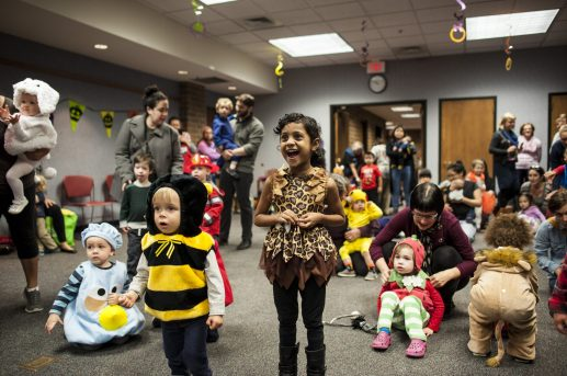 Children in costumes join Halloween storytime at the Forest Park Public Library on Oct. 28. | William Camargo/Staff Photographer