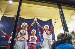 At Todd and Holland in downtown Forest Park, a group of girls dance to some holiday tunes. | William Camargo/Staff Photographer