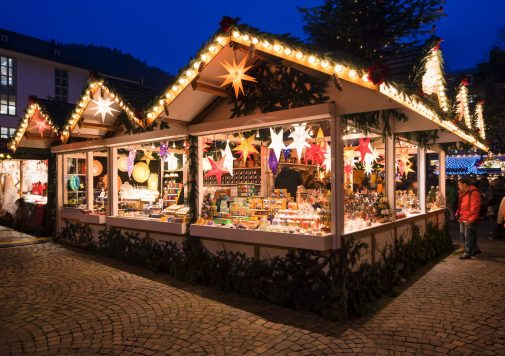 A typical Christmas market in Germany.