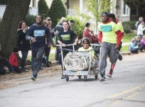 The Forest Park Review casket came out of nowhere to claim the championship during the annual casket race in downtown Forest Park on Saturday, Oct. 22.   File photo
