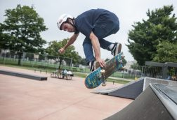 Jared Kuhn does a trick on a ramp during a skating event for children at Bud Mohr skatepark on Thursday, June 23.   File photo