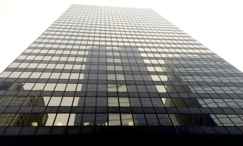 The red-light camera company SafeSpeed LLC, which has contracts with River Forest, North Riverside and Berwyn for lucrative cameras along Harlem Avenue, operates out of offices on the eighth-floor of this skyscraper at 150 N. Wacker Drive in downtown Chicago. | Photo by BRETT McNEIL