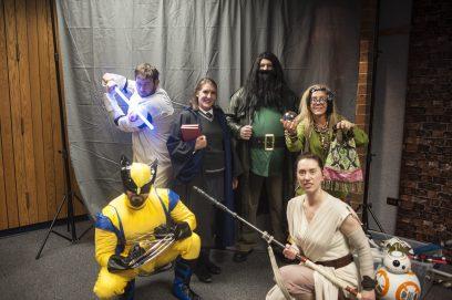 Super heroes took a photo together. | William Camargo/Staff Photographer