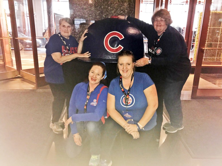 Peggy O'Rourke and friends celebrating the Cubs. | Courtesy Margaret Orourke