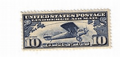 The new post office at 314 Circle sold this commemorative Lindbergh stamp the day it opened, July 1, 1927.