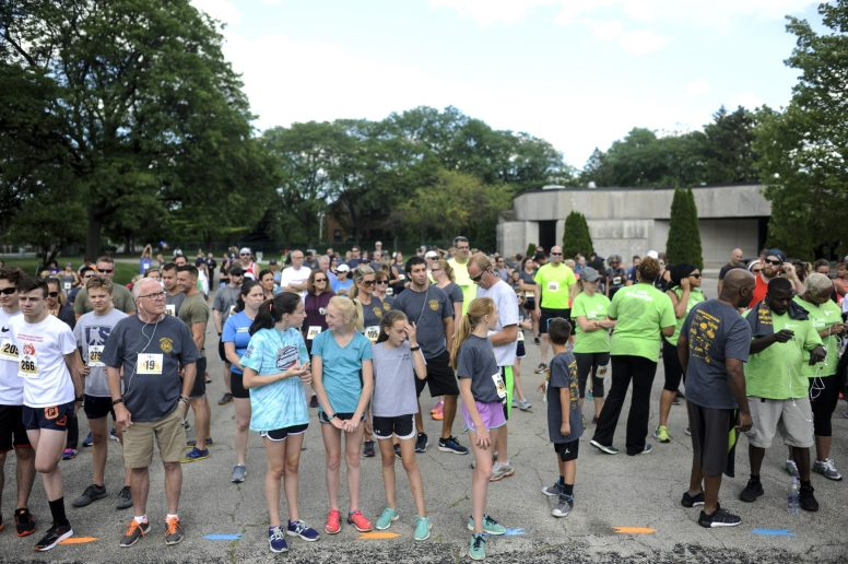 More than a hundred people get ready to run the Forest Park Firefighters 5K in Forest Park on Saturday June 24, 2017. | William Camargo/Staff Photographer
