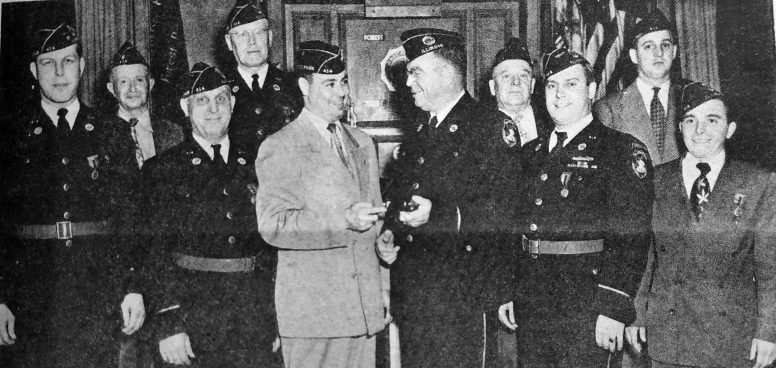 Howard Mohr was inducted as commander of American Legion Post 414 in 1951. | Photo courtesy Forest Park Historical Society