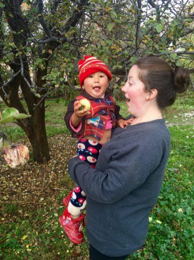 Leah Cozzi with Aruke, a friend's little host sister. | Courtesy Leah Cozzi
