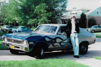 Larry Edwards leans against his prized Chevy Nova SS in the 1970s.   Photos courtesy Chris Edwards