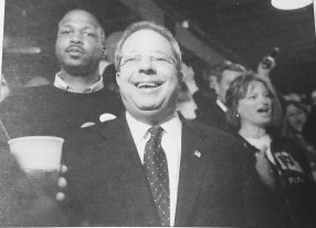 Mayor Calderone with Rory Hoskins (left) after their win. | Courtesy Forest Park Historical Society